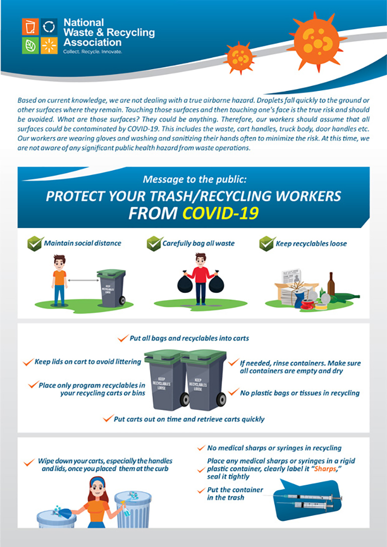 NWRA Publishes Poster to Help the Public Keep Sanitation Workers Safe