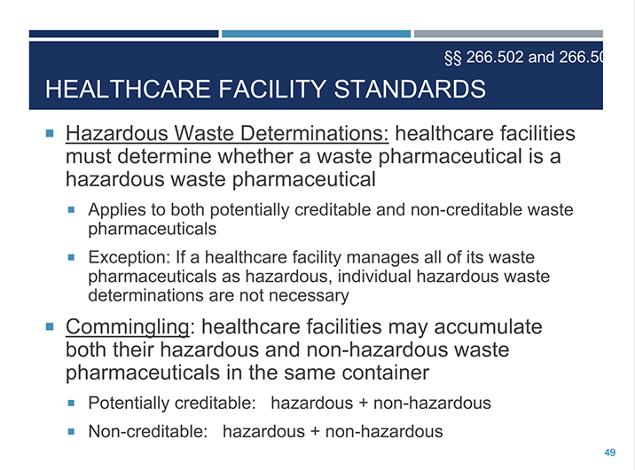 EPA Finalizes Standards for Managing Hazardous Waste