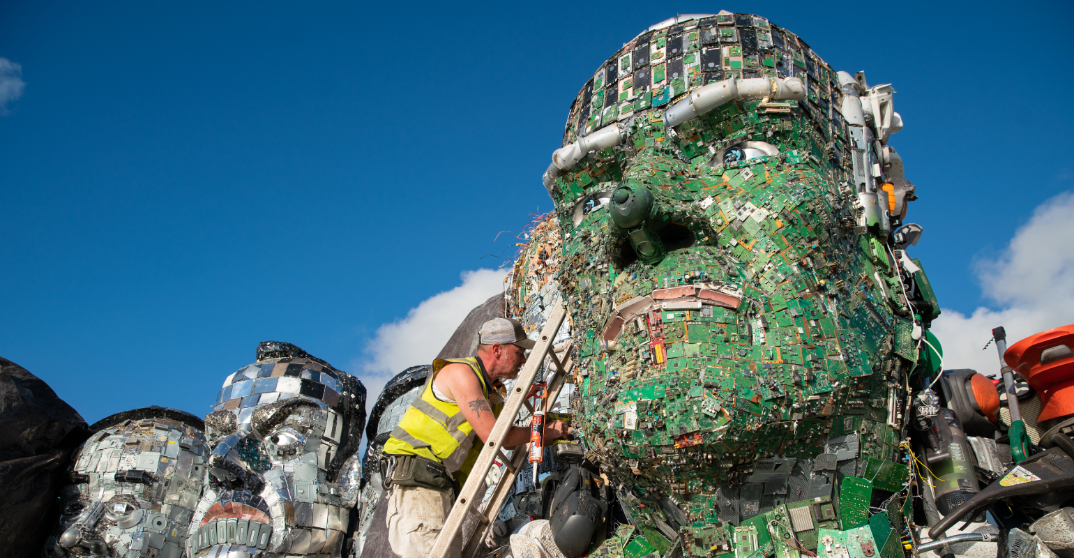 Mount Recyclemore Using e-Waste is Built Ahead of Summit | Waste360