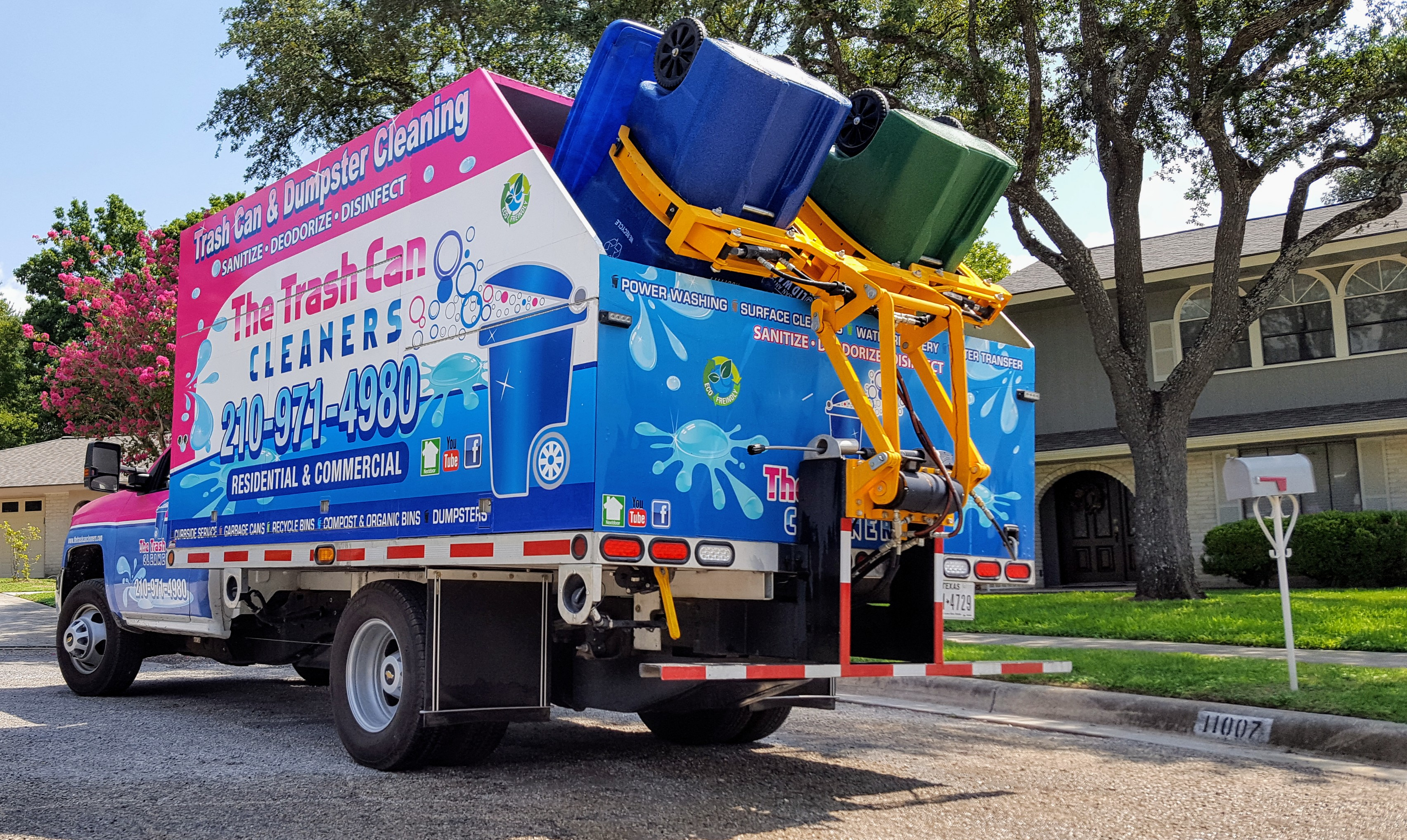 A Mobile Trash Can Cleaning Service Has Hit San Antonio