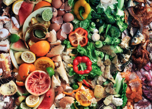 food waste colorful