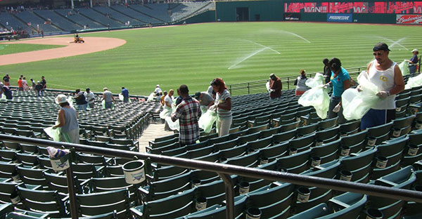 Cleveland Indians Progressive Field recycling collection