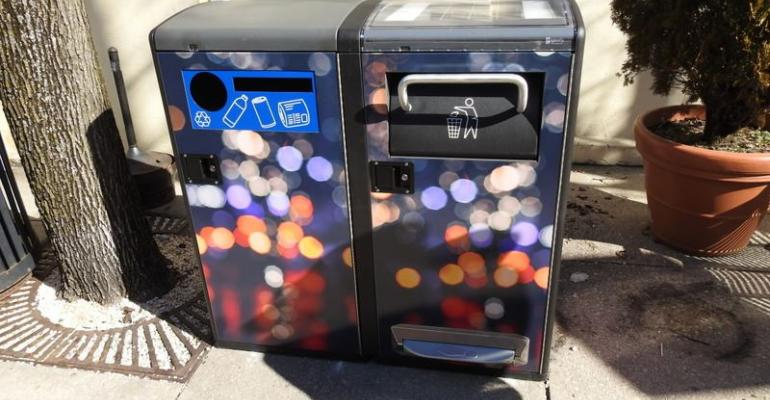 solar powered garbage cans