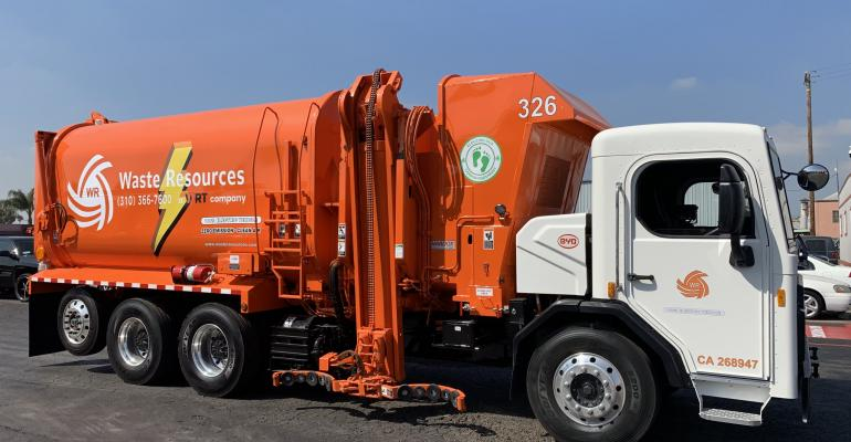 electronic refuse truck