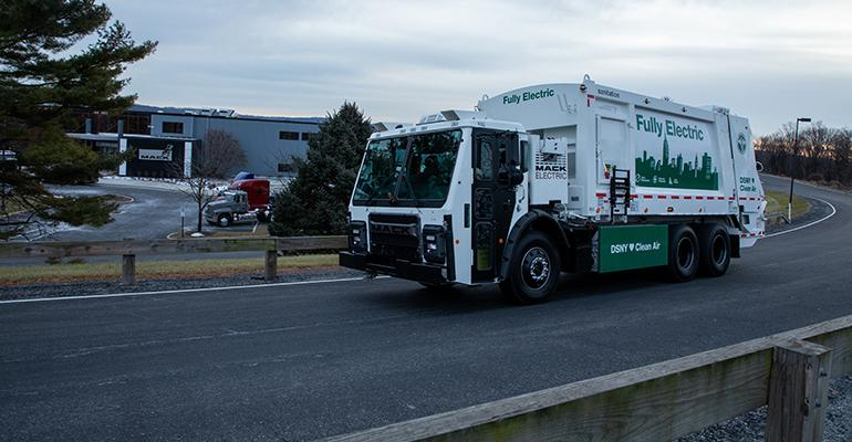 Behind the Wheel: A Look at Mack's LR Electric Truck for DSNY
