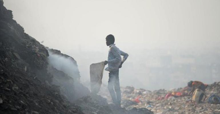 New Delhi's Ghazipur landfill