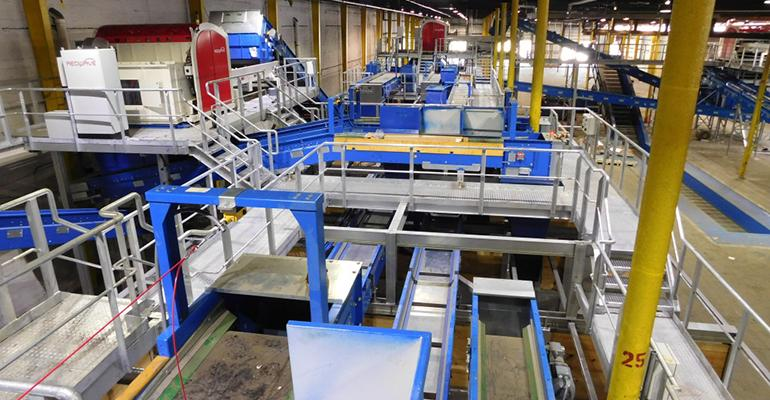 QRS plastics recovering facility