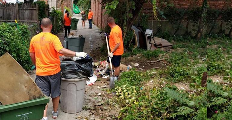 Traveling Trash Men Take on Cleanup Effort in Baltimore