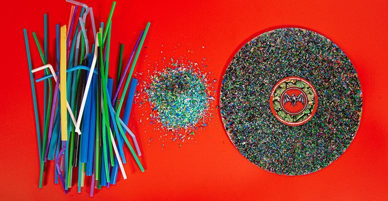 Partnership Upcycles Single-use Plastic Straws into Vinyl Records