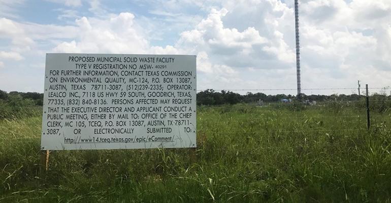 Bastrop County waste transfer site