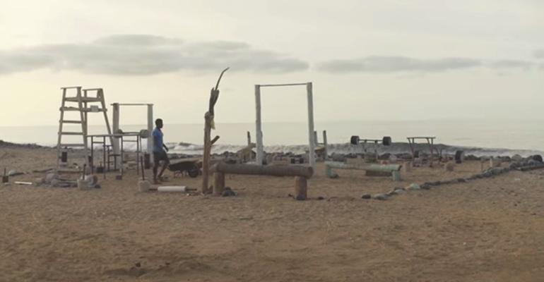 beach waste gym