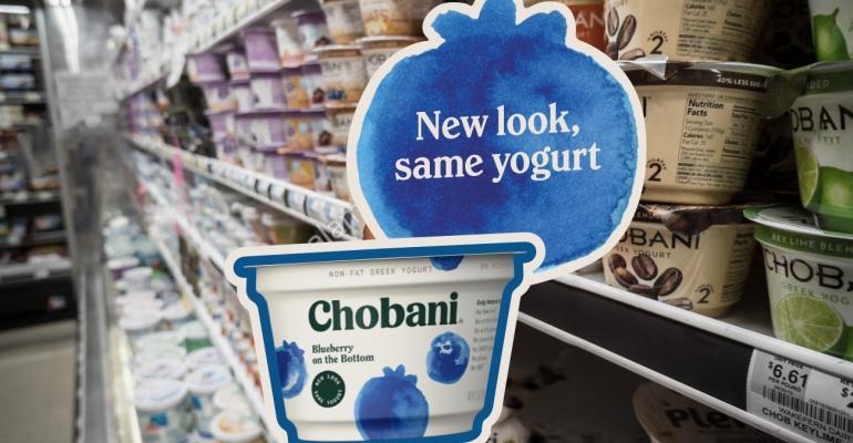 Chobani Packaging In store