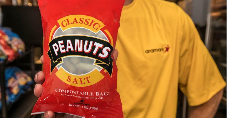 compostable peanut bag