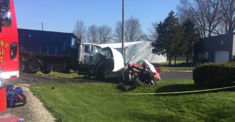 garbage truck collision