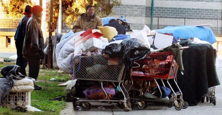 West Oakland homeless camp