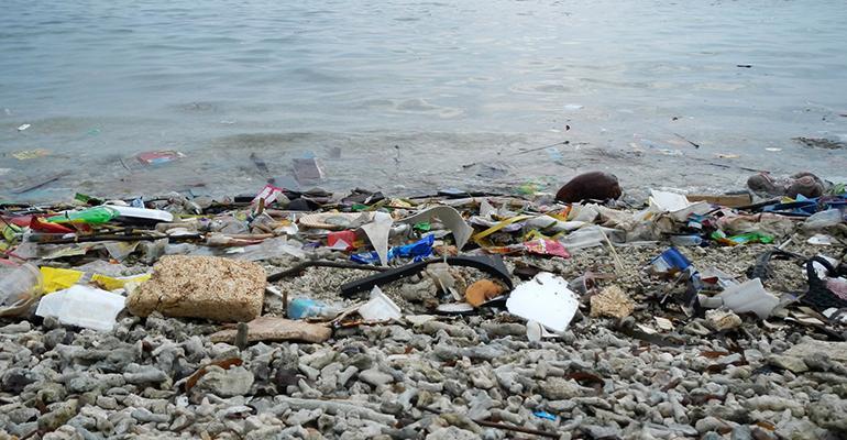 Indonesia beach waste