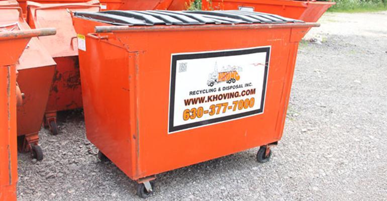 K Hoving Companies dumpster