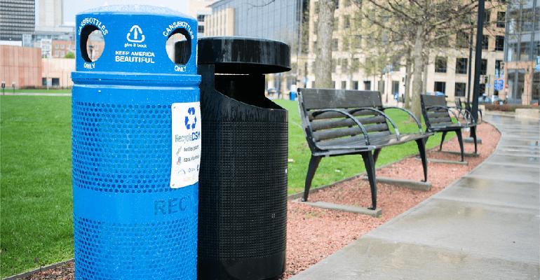 Coca Cola Keep America Beautiful recycling bins