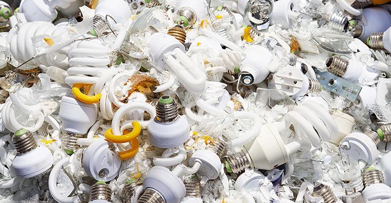 light bulbs waste