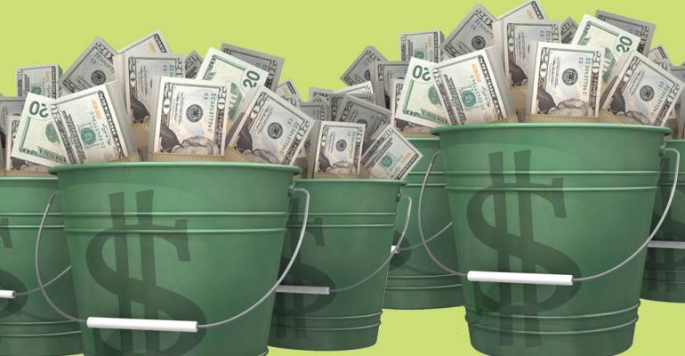 money-in-buckets