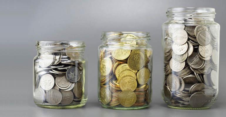 money-in-jars
