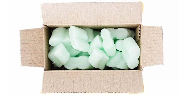 polystrene in box