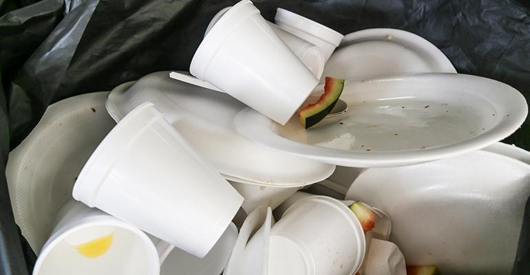 polystyrene waste