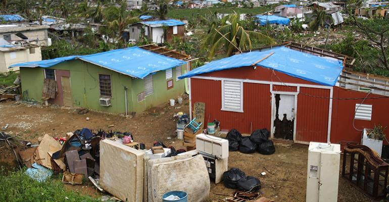 Puerto Rico hurricane Maria debris