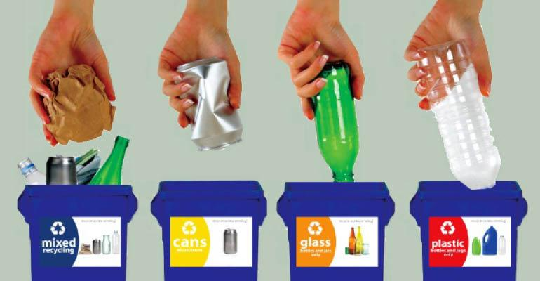 recycle-labeled-containers