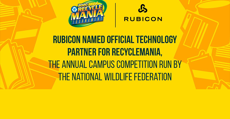 Rubicon Named Official Tech Partner for RecycleMania