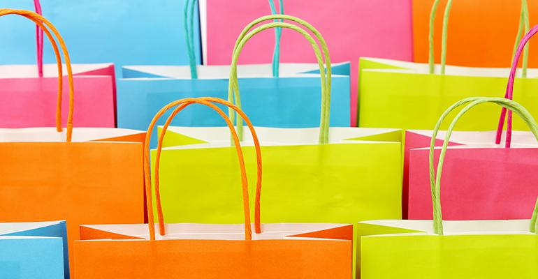 shopping bags retail sales trends