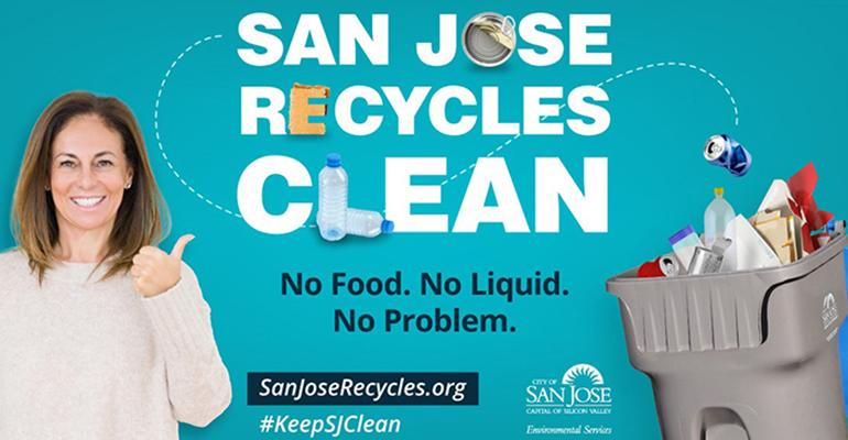 San Jose, Calif.'s Recycle Right Campaign Sends Clear Message