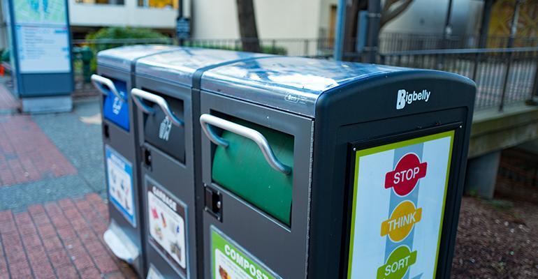 Overflowing Solar-powered Bins Trash Chicago Sidewalks