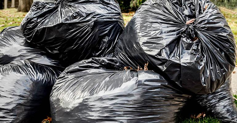 trash bags for pick-up