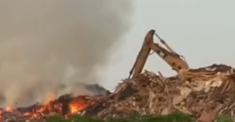 Louisiana Officials: Fire at Landfill Larger than Expected