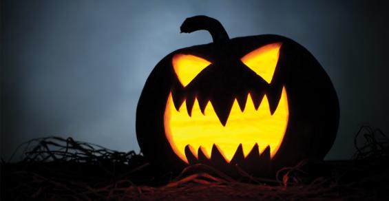 Halloween Display in Nova Scotia Made from Shoreline Waste