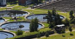 storage tanks in sewage water treatment plant