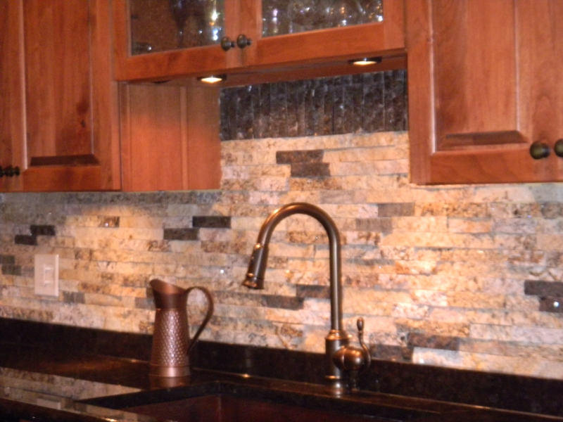 Pavers used as granite countertop .