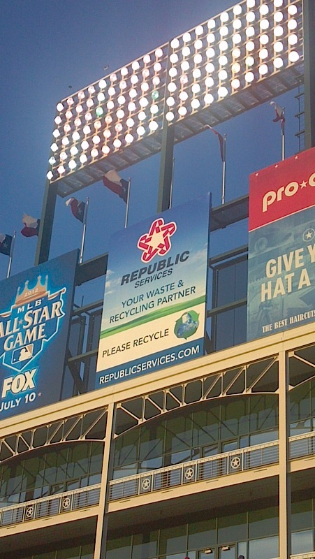 Republic Services Cleveland Indians Progressive Field recycling signage