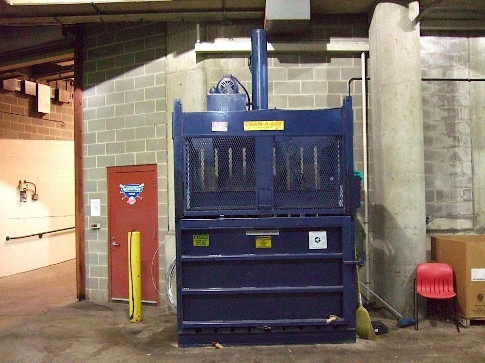 Cleveland Indians Progressive Field recycling bailer