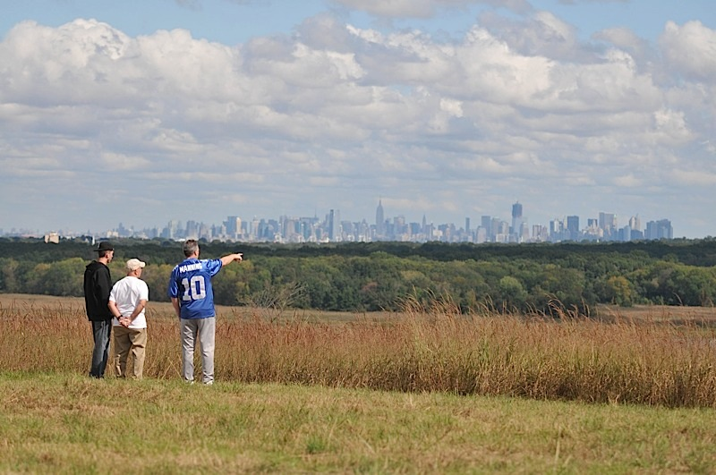 The view from Fresh Kills Park.