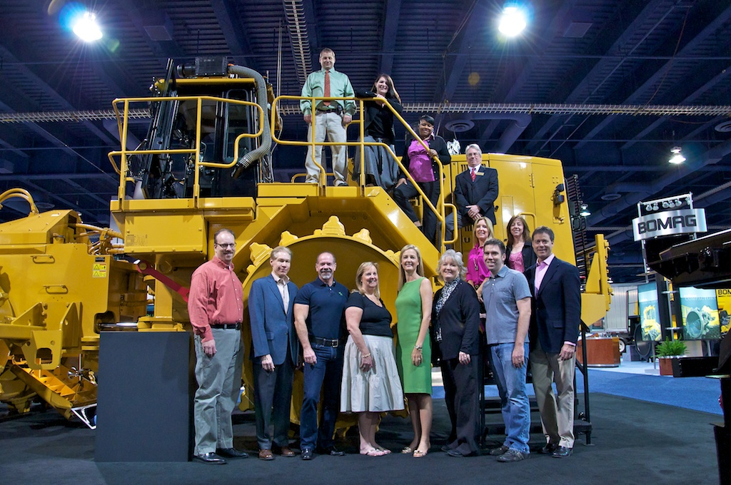 The Penton Waste Group in 2012 on the WasteExpo show floor in Las Vegas.